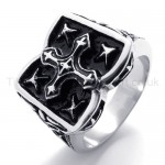 Classical Cross Titanium Ring 20207
