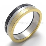 Three Loops Three colors Titanium Ring 20211
