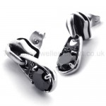 Black Diamond Retro Titanium Earrings 20339