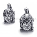 Helmet Retro Titanium With Diamond Earrings 20343