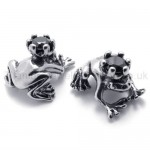 Frog Prince Retro Titanium Earrings 20346