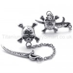 Sword and Skull Titanium Earrings 20348