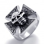 Cross Skull Titanium Ring 20684