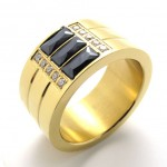 Gold Titanium Ring 20535