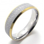 Gold Accent Pearl Titanium Ring 20810