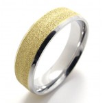 Colored Pearl Titanium Ring 20811