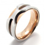 Rose Gold Titanium Ring 20812