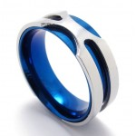 Blue Titanium Ring 20814