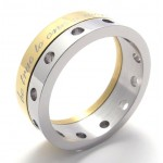 Half Gold Titanium Ring 20920