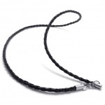 Black 20 inch Titanium Necklace 20711