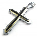 Two Titanium Cross Pendant Necklace (Free Chain)