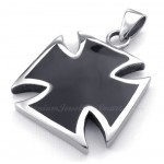 Simple Titanium Cross Pendant Necklace (Free Chain)