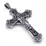 Our Lady Titanium Cross Pendant Necklace (Free Chain)