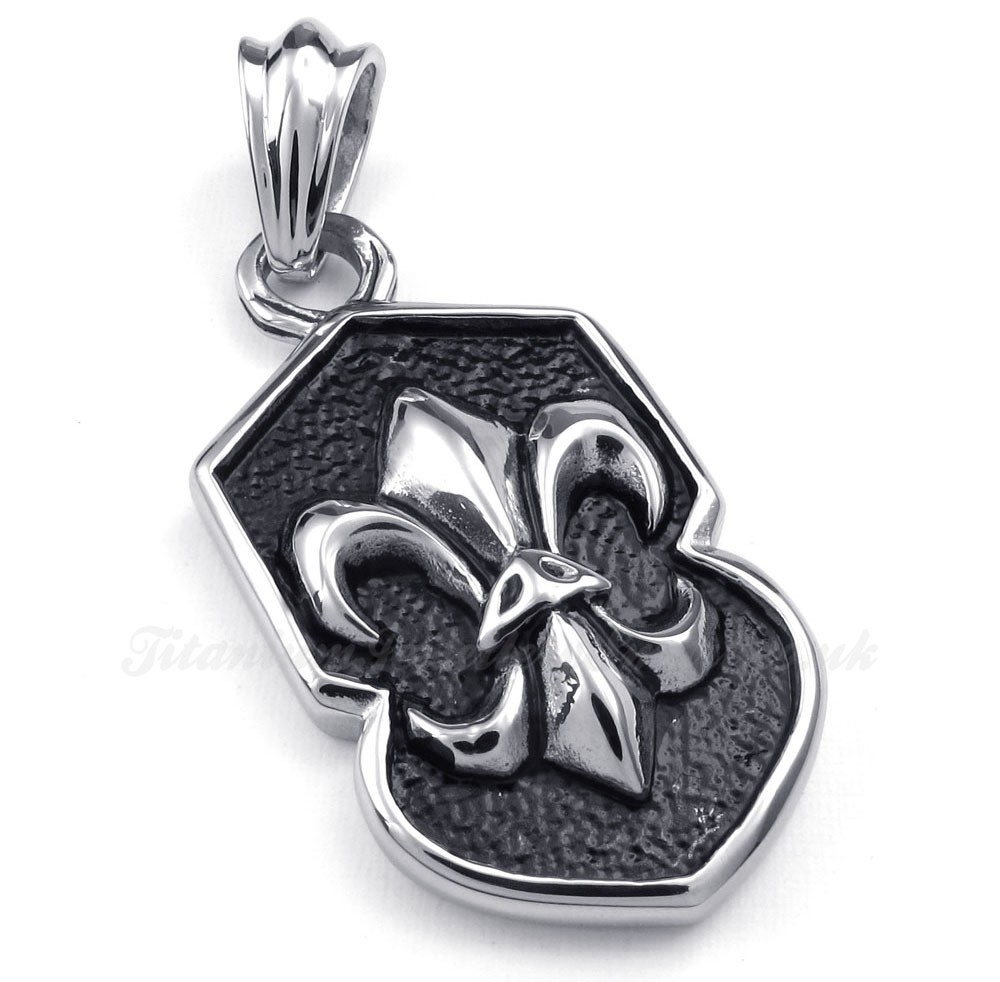 flower titanium cross pendant necklace free chain 163 89