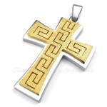 Titanium Cross Pendant Necklace (Free Chain)