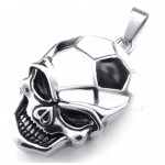 Titanium Football And Soccer Skull Pendant Necklace (Free Chain)