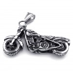 Titanium Motorcycle Pendant Necklace (Free Chain)