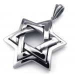 Star Of David Titanium Star Pendant Necklace (Free Chain)
