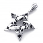 Titanium Spots Five-pointed Star Pendant Necklace (Free Chain)