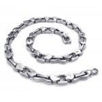 Two-layer Link Mens Titanium Necklace