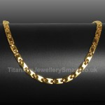Titanium Mens Golden Necklace