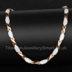 Titanium Sport Rose Gold Necklace