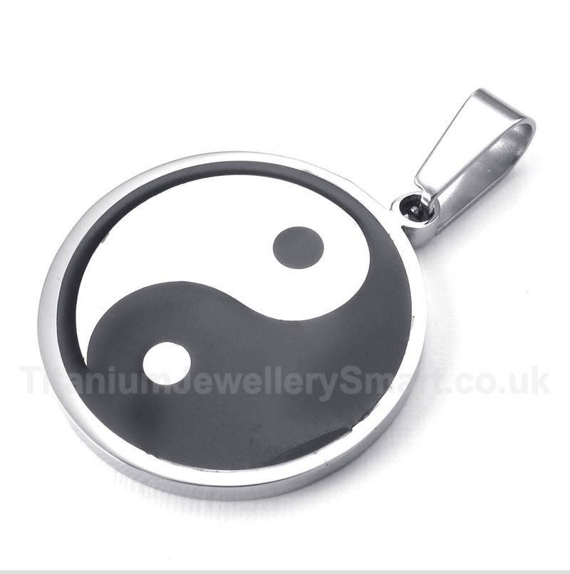 Titanium tai chi pendant with free chain 40 titanium jewellery uk titanium tai chi pendant with free chain aloadofball Choice Image