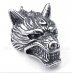 Titanium Wolf Head Pendant with Free Chain