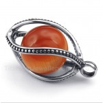 Titanium Red Opal Pendant with Free Chain