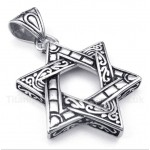 Titanium Star of David Pendant with Free Chain