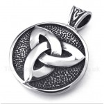 Titanium Celtic Knot Pendant with Free Chain