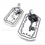 Titanium Key Couple's Pendant with Free Chain (One Pair)