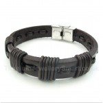 Leather Titanium Bracelet