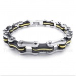 Titanium Bicycle Chain Rubber Bracelet