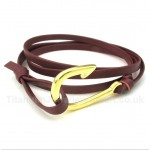 Leather Hooks Titanium Bracelet