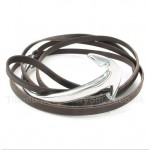 Titanium Leather Anchor Bracelet