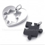 Titanium Gold Male and Female Symbols Couple's Pendant (One Pair)