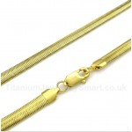 20 inch Titanium Gold Snake Necklace