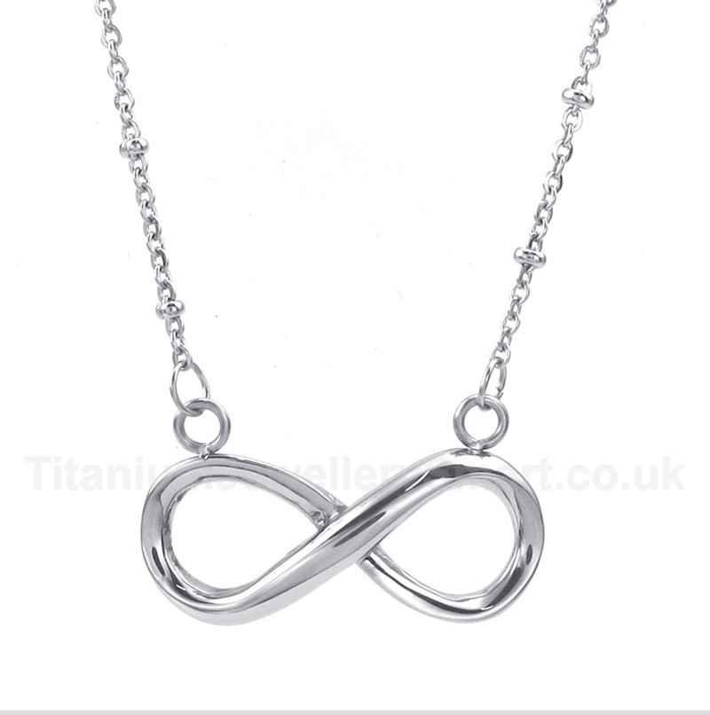 Titanium Infinity Symbol Necklace 80 Titanium Jewellery Uk
